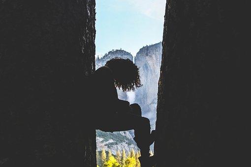 Hill, Cliff, Landscape, Rocks, Dark, Black, Nature