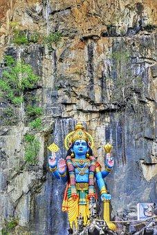Hill, Cliff, Rocks, Landscape, Hindu, Temple, Travel
