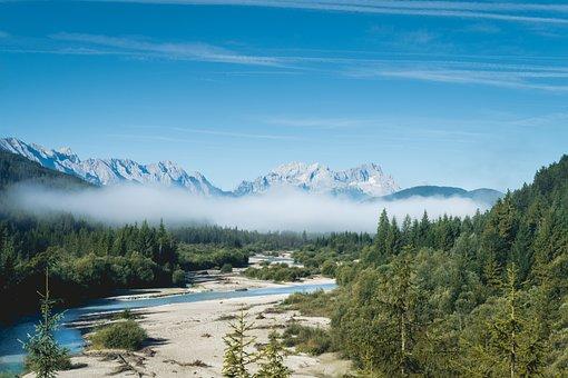 Mountain, Highland, Cloud, Blue, Sky, Summit, Ridge