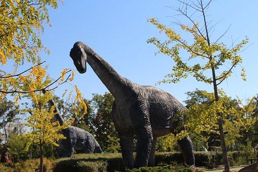 Park, Dinosaur, Prehistory, Model, Tour, Tourism