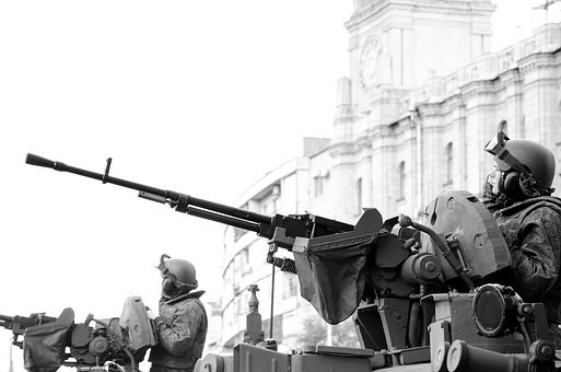 Black And White, Military, Army, Gun, War, Vehicles