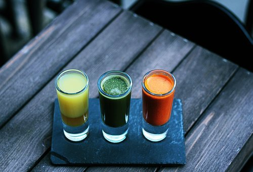 Colorful, Drinks, Beverage, Juice, Smoothies, Wooden