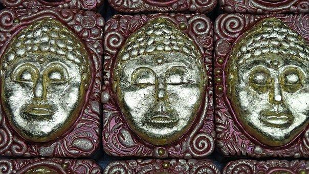Gold Leaf, Buddha, Sculpture, Soap Sculpture, Gold