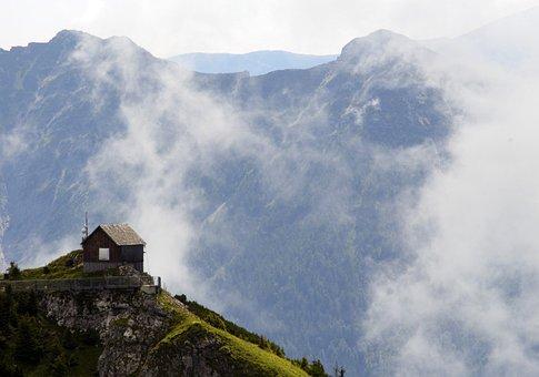 Cloud, Mountains, House, Nature, Mountain, Landscape