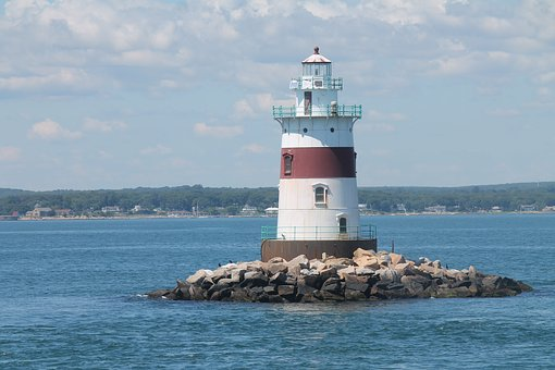 Lighthouse, Long Island Sound, Ferry
