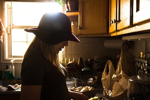 House, Kitchen, Indoor, Interior, People, Girl, Female