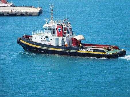 Tug, Boat, Greece