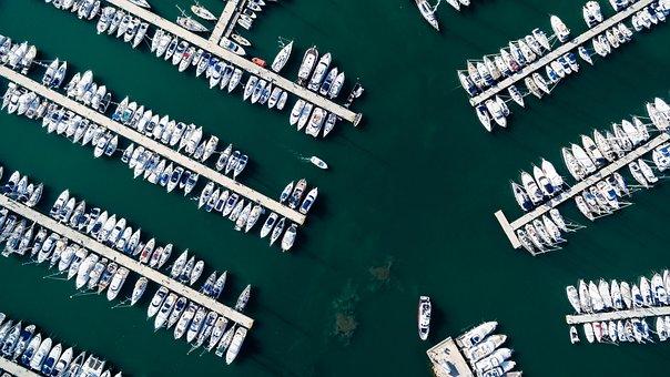 Sea, Ocean, Water, Transportation, Aerial, View, Nature
