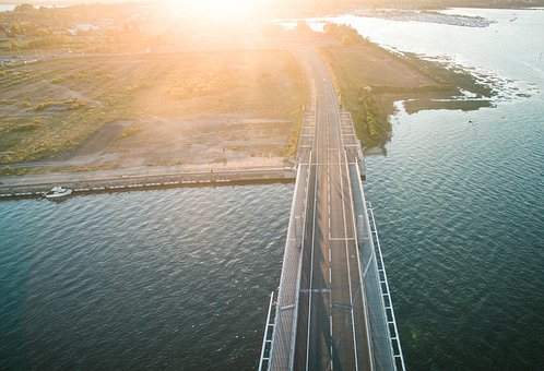 Architecture, Bridge, Infrastructure, Sea, Ocean, Water