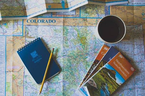 Geography, World, Map, Paper, Brochure, Notebook, Pen