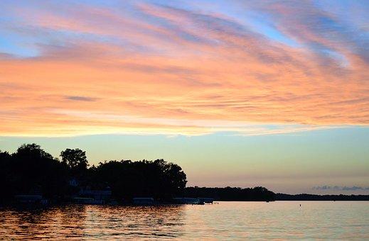 Sunset, Lake, Reflection, Beauty, Peace, Peaceful