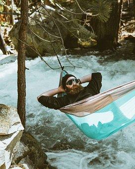 Hammock, People, Man, Outdoor, Relax, Tree, Plants