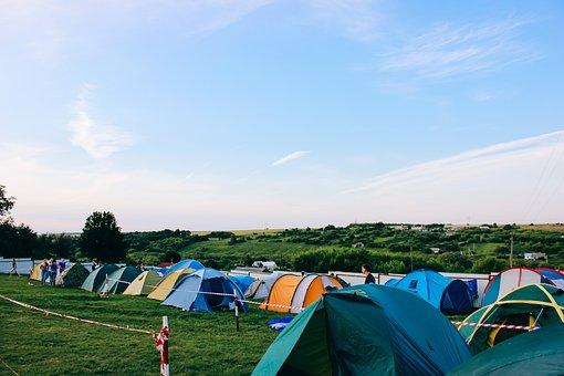 Tent, Green, Grass, Playground, Nature, Mountain