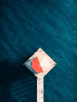 Sea, Ocean, Blue, Water, Nature, Pier, Floating