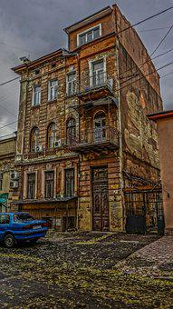 Odessa Building, Antiquity, Machine, Road