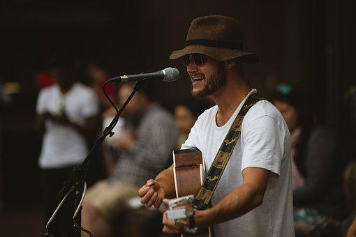 Concert, Guitarist, Singing, Crowd, People, Audience