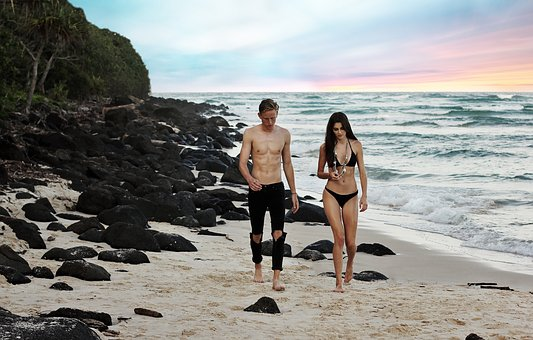 People, Man, Woman, Beauty, Swimsuit, Model, Bikini