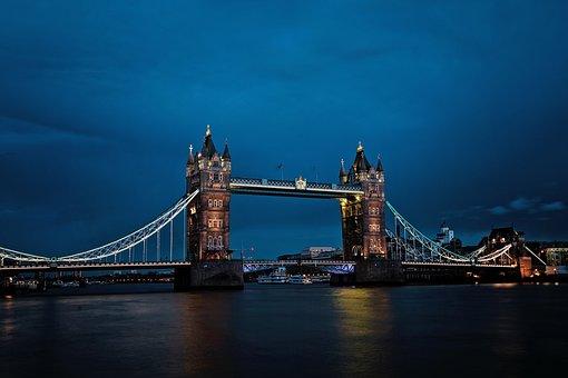 Bridge, Architecture, Landmark, London, City, Skyline