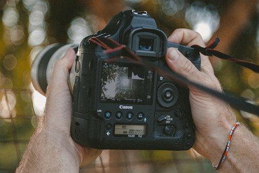 Camera, Dslr, Lens, Black, Photography, Strap, Blur