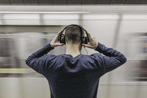 People, Guy, Man, Sound, Music, Headphone, Speaker