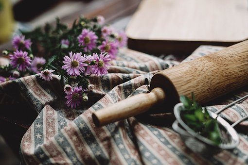 Flower, Table, Cloth, Kitchen, Wooden