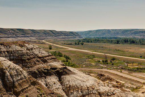 Highway, Scenic, Canyon, Sandstone, Road, Alberta