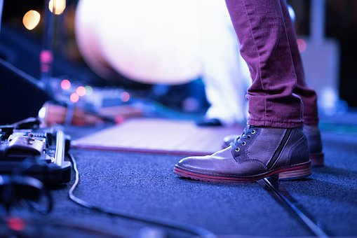 Stage, Concert, Effects, Electronic, Cable, Cord, Shoe