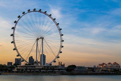 Singapore, The Ferris Wheel, Round Go Wheel