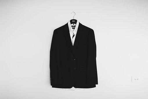 Black And White, Coat, Suit, Tuxedo, Clothing, Fashion