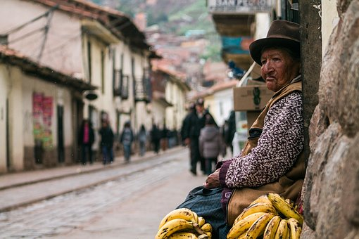 People, Old, Poor, Woman, Alone, Waiting, Street