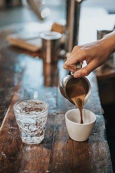 Water, Drink, Soda, Coffee, Espresso, Cup, Wooden