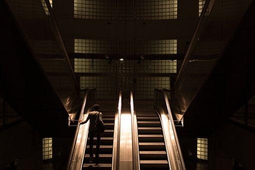 Architecture, Building, Infrastructure, Escalator