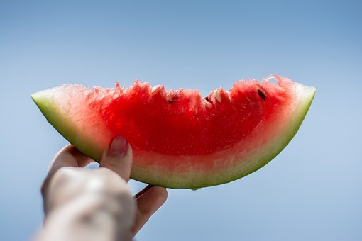 Watermelon, Fruit, Fresh, Juicy, Health, Food, Hand