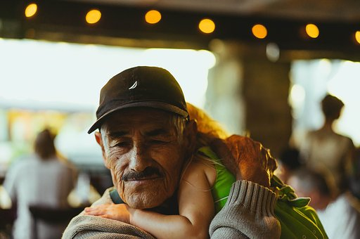 People, Old, Man, Grandfather, Baby, Kid, Child