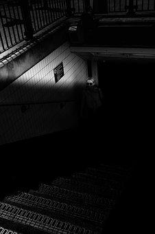 Dark, Black And White, Monochrome, Architecture, Road