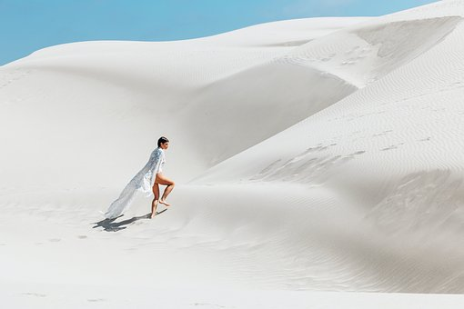 White, Sand, Desert, Highland, Landscape, Outdoor, View