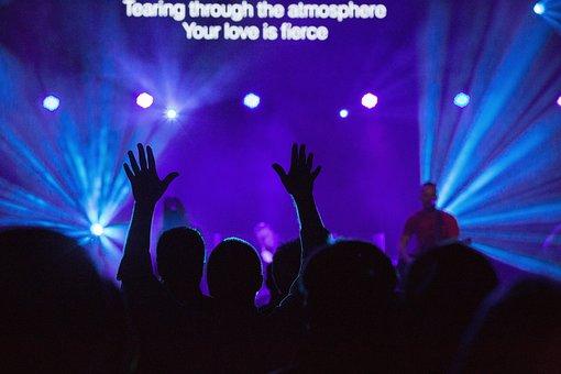 Concert, Singer, Singing, Stage, Lights, Spotlight