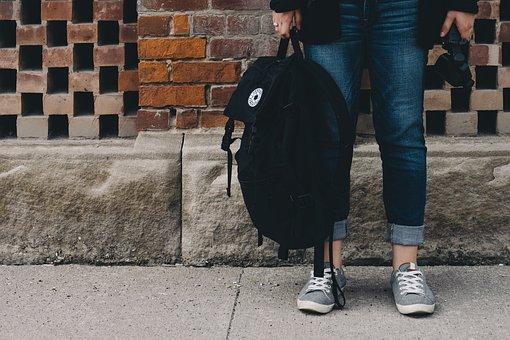 People, Standing, Waiting, Backpack, Bag, Travel