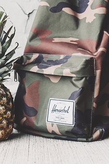 Bag, Backpack, Travel, Outdoor, Herschel, Pineapple