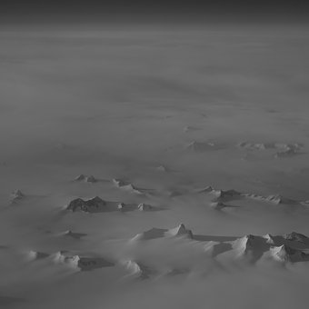 Black And White, Grayscale, Aerial, View, Nature