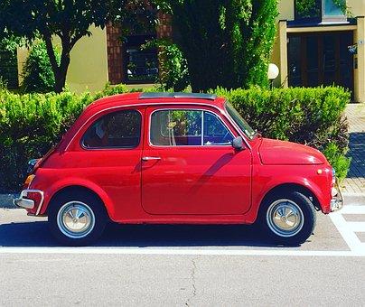 Fiat, Italy, 500, Oldtimer, Classic, Nostalgic, Auto
