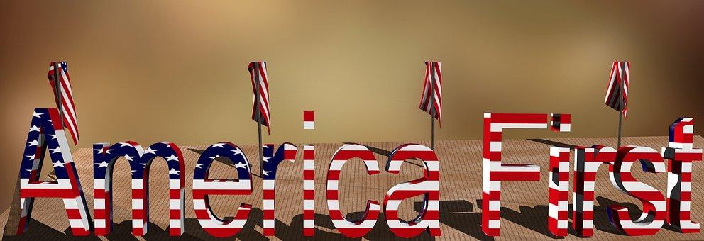 Flag, Usa, Trump, First, America, World Power