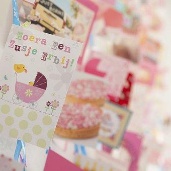 Congratulation, Birth Announcement, Birthday Card