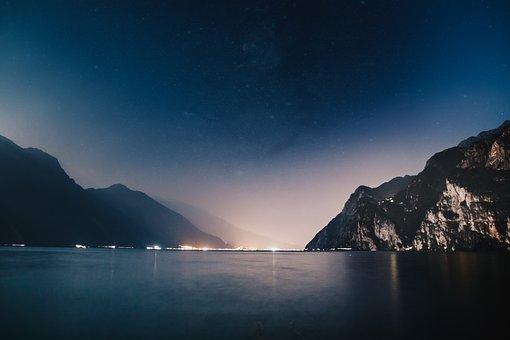 Sea, Ocean, Water, Wave, Nature, Night, Dark, Blue, Sky