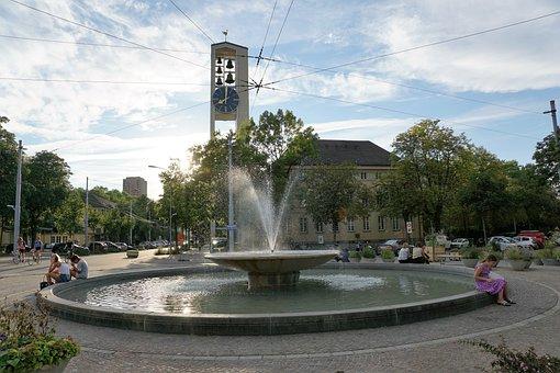 Fountain, Zurich, Figure, Art, Sculpture, Water