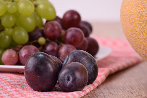Food, Fruit, Plums, Plum, Grapes, Fruits, Healthy Food