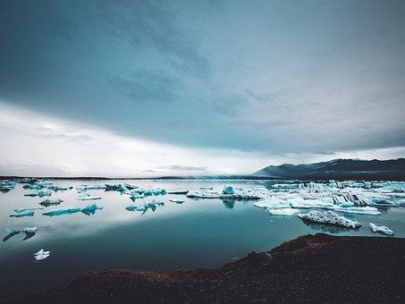 Sea, Ocean, Water, Nature, Ice, Iceberg, Mountain