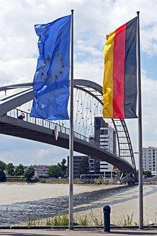 Three Countries Bridge, Rhine, Germany, France