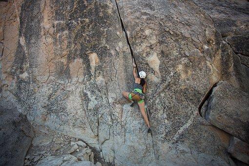 Rock, Climbing, Equipment, Rappelling, Adventure, Rope