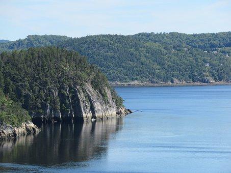Saguenay, Mountain, Fjord, River, Nature, Water
